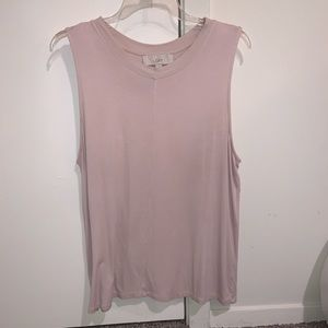 LOFT light pink sleeveless shirt